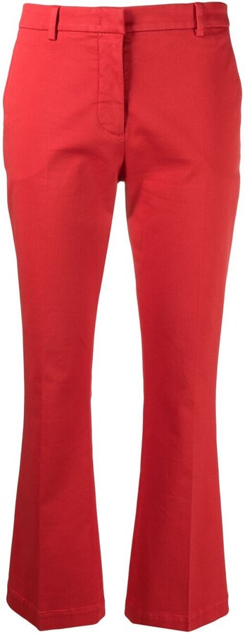 Pt01 Flared-Leg Cropped Trousers