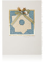 Constance Kay Origami Wreath & Star Holiday Card-WHITE, NO COLOR