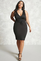 Forever 21 FOREVER 21+ Plus Size Lace-Up Bodycon Dress