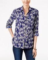 Charter Club Giraffe-Print Shirt, Only at Macy's