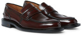 Ami Burnished-Leather Penny Loafers