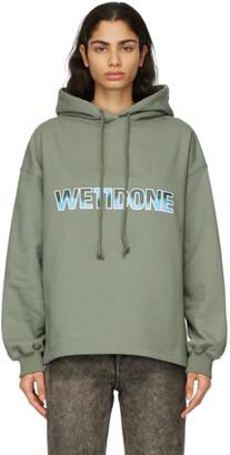 we11done Khaki New Logo Hoodie