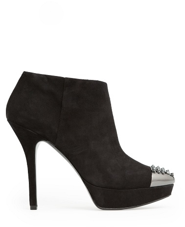 MANGO Outlet Metal Toe Cap Suede Ankle Boots