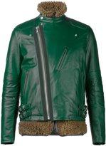 Sacai layered biker jacket