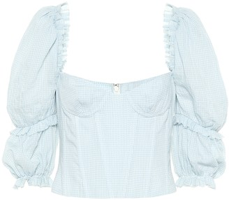 Brock Collection Exclusive to Mytheresa Oceanic gingham cotton top