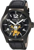 Invicta Men's 'Character Collection' Quartz Stainless Steel and Leather Casual Watch, Color: (Model: 24884)