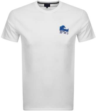 Edwin The Wave Crew Neck Logo T Shirt White