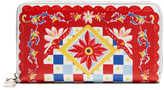 Dolce & Gabbana Carretto-print leather zip-around wallet