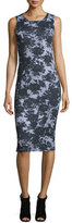 McQ by Alexander McQueen Sleeveless Floral Trompe l'Oeil Jersey Dress