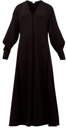 Hillier Bartley V-neck Buttoned Crepe Dress - Black