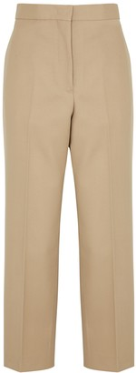 Jil Sander Camel straight-leg wool trousers