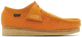 Aimé Leon Dore Orange Clarks Originals Edition Wool Wallabee Boots