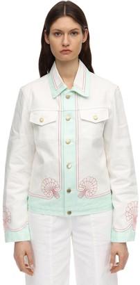 Casablanca Coquillages Printed Cotton Denim Jacket