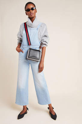 Mother The Greaser Wide-Leg Denim Overalls