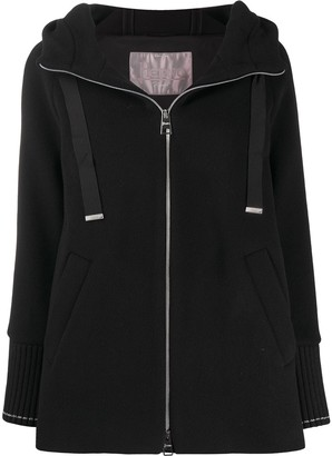 Herno Knitted Zipped Hooded Jacket