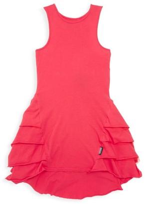 Nununu Little Girl's Fancy Layer Ruffle A-Line Dress