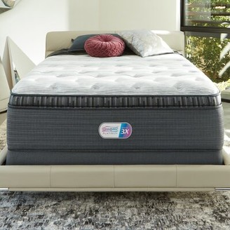 "Simmons Platinum 16"" Plush Pillow Top Mattress and Box Spring Mattress Size: California King, Box Spring Height: Low Profile"