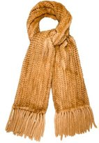 Cassin Knitted Mink Shawl