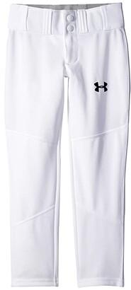 Under Armour Kids Lead Off Pants (Big Kids) (White/Black) Boy's Casual Pants