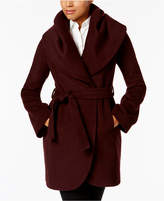 T Tahari Marla Shawl-Collar Wrap Coat