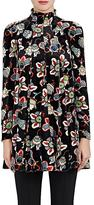 Valentino Women's Floral Velvet A-Line Tunic