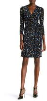 Anne Klein Printed Faux Wrap Dress