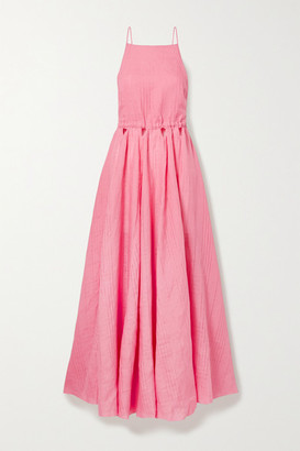 Cult Gaia Bella Open-back Cutout Linen Maxi Dress - Pink