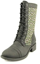 Denim & Supply Ralph Lauren Torie Round Toe Leather Mid Calf Boot.