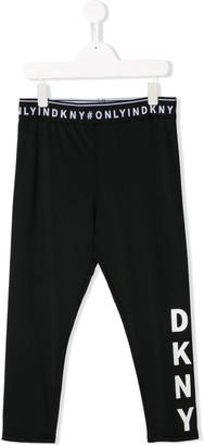 DKNY TEEN logo waistband leggings