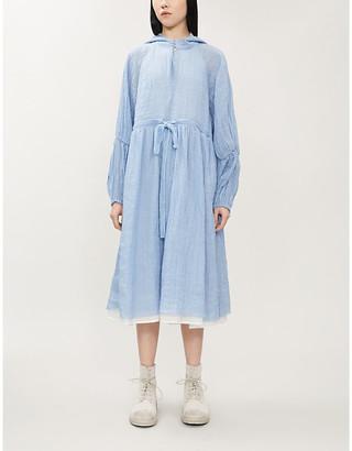 Renli Su Asymmetric woven hooded midi dress