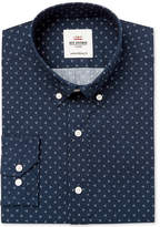 Ben Sherman Men's Slim-Fit Blue and White Triple Dot Dress Shirt