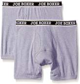 Joe Boxer Men's Underwear 2 Pack Boxer Brief with Fly