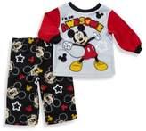 "Disney 2-Piece ""I'm Awesome"" Mickey Mouse Fleece Pajama Set in Grey"