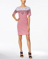 Karen Scott Striped T-Shirt Dress, Created for Macy's