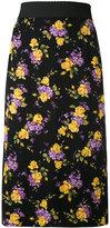 Dolce & Gabbana floral embroidered skirt - women - Silk/Spandex/Elastane - 42