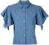 Alice + Olivia Alice+Olivia - Elise handkerchief sleeve shirt - women - Linen/Flax/Polyester/Lyocell - L