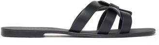 Forever New Ashley Woven Slide Sandals - Black - 36