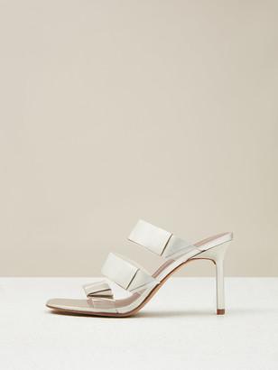 Diane von Furstenberg Amari Metallic Leather Sandals