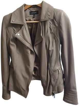 Karen Millen Grey Leather Jacket for Women