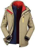 Hengjia Men's 3-in-1 Polar Fleece Outdoor Tech Jacket Windbreaker Outerwear with Liner US L /Asia Tag 3XL