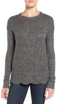 Velvet by Graham & Spencer Scallop Hem Sweater