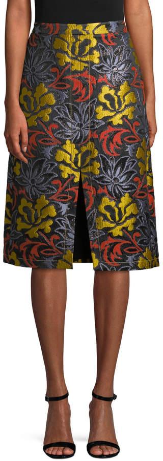 Derek Lam Women's Floral A-line Skirt