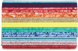 Kurt Geiger London Stripe Envelope Clutch