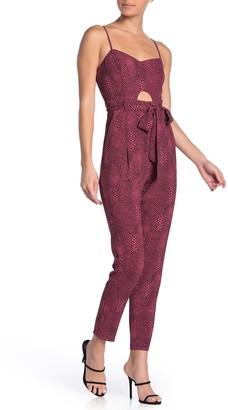 Material Girl Animal Print Peekaboo Sleeveless Jumpsuit