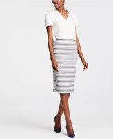 Ann Taylor Striped Jacquard Pencil Skirt