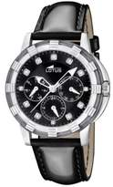 Lotus Women's Quartz Watch with Black Dial Analogue Display and Black Leather Strap 15746/8