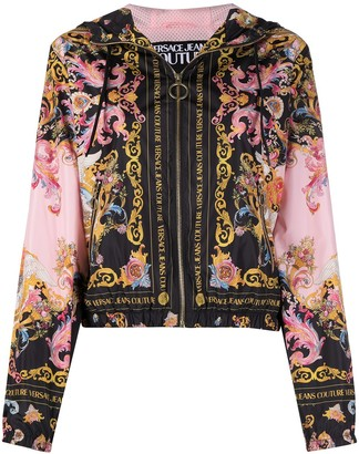 Versace Jeans Couture Versailles print hooded jacket
