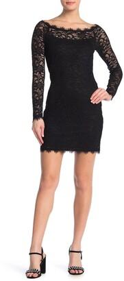 Jump Long Sleeve Lace Bodycon Dress