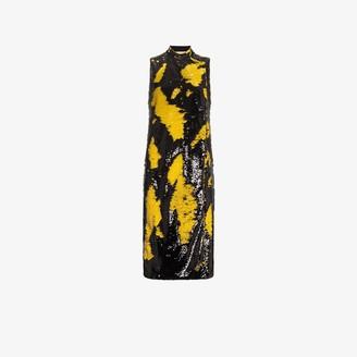 Ganni Sleeveless Sequin Midi Dress
