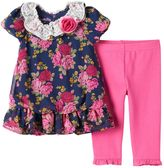 Nannette Toddler Girl Floral Chiffon Tunic & Leggings Set